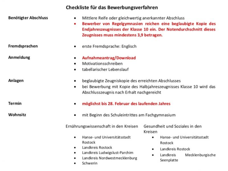 Checkliste Bewerbung